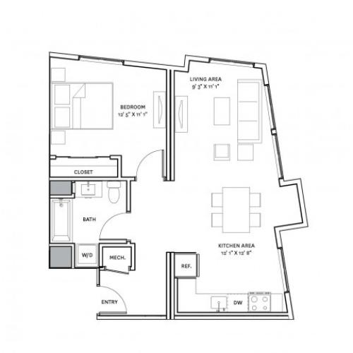 Floor Plan 14 | Charlestown Ma Apartment Complexes | The Graphic Lofts