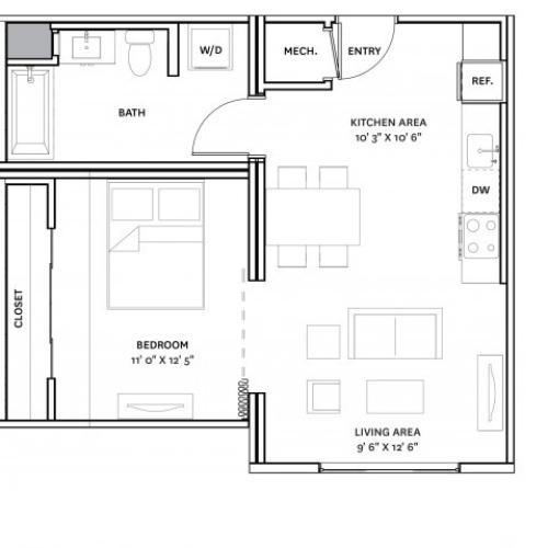 Floor Plan 8 | Charlestown Boston Apartments | The Graphic Lofts