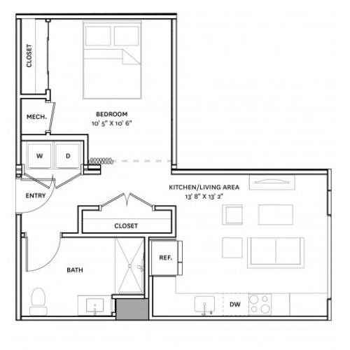 Floor Plan 11 | Apartment Complexes In Charlestown Ma | The Graphic Lofts