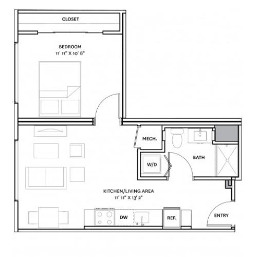 Floor Plan 16 | Apartment Complexes In Charlestown Ma | The Graphic Lofts