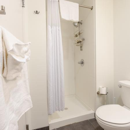 Spacious Bathroom | Apartments Seaport Boston | 381 Congress