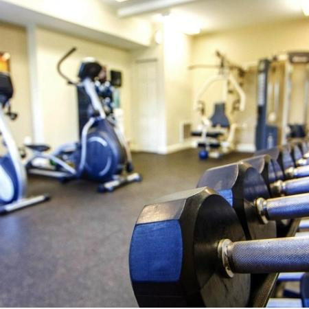 Fitness center at Princeton Reserve apartment homes in Dracut, MA.