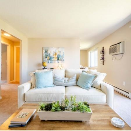 Living Room | Princeton Reserve apartments in Dracut, MA.