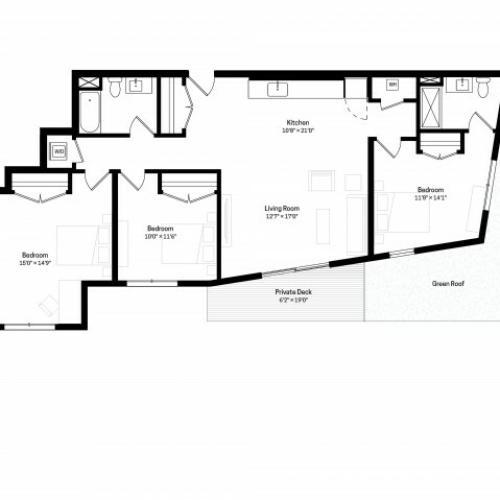 Jamaica Plain Apartments: 2 Bed / 2 Bath Apartment In Jamaica Plain MA