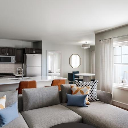 Elegant Living Room | Floor Plans & Pricing | 1-2 Bedroom Apartments North Andover MA | Princeton North Andover