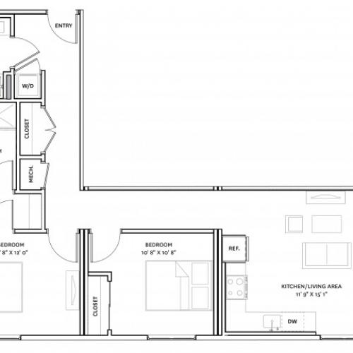 Floor Plan 18 | Charlestown Apartments Boston | The Graphic Lofts