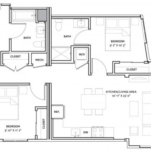 Floor Plan 19 | Charlestown Apartments Boston | The Graphic Lofts