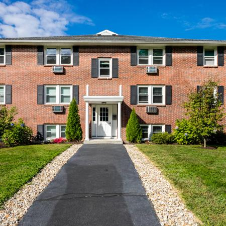 Exterior view from parking area | Princeton Dover | Dover NH Apartment Buildings