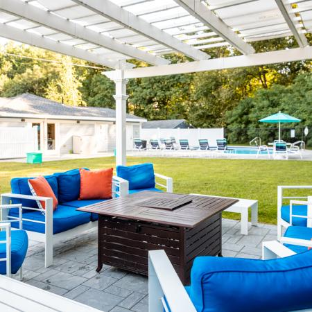 Fire Pit & Pool | Princeton Dover | Apartment Complex Dover NH