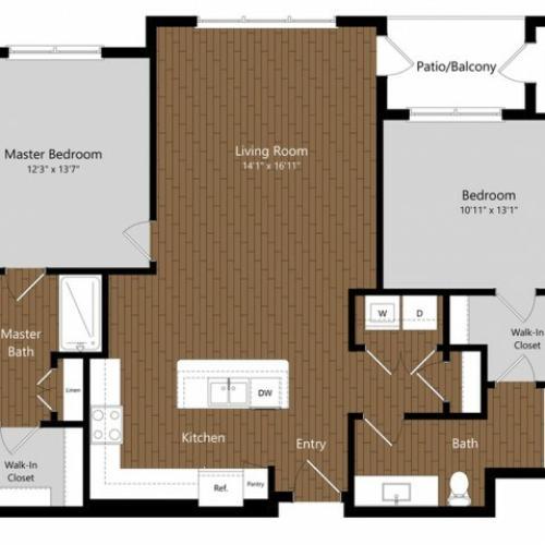 Sage 2 2 Bdrm Floor Plan | Amenities | Apartments In North Andover MA         | Princeton North Andover