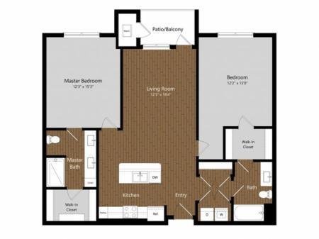 Sage 3 2 Bdrm Floor Plan | Amenities | Apartments In North Andover MA         | Princeton North Andover