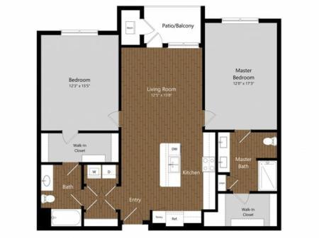 Sage 4 2 Bdrm Floor Plan | Amenities | Apartments In North Andover MA         | Princeton North Andover