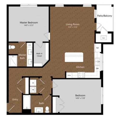 Sage 5 | 2 Bdrm Floor Plan | Amenities | Apartments In North Andover MA         | Princeton North Andover