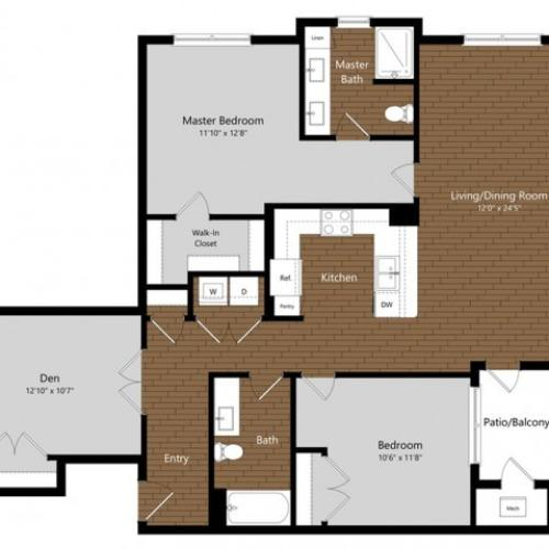 Juniper | 2 Bedroom Floor Plan | Photos | A Look Inside North Andover Apartments | Princeton North Andover