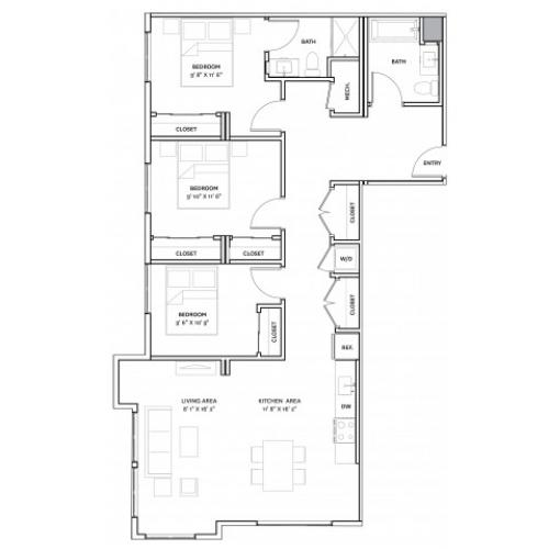 Floor Plan 18 | Charlestown Boston Apartments | The Graphic Lofts