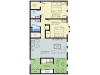 2 Bedroom Floor Plan | Apartment Nashua Nh | Boulder Park