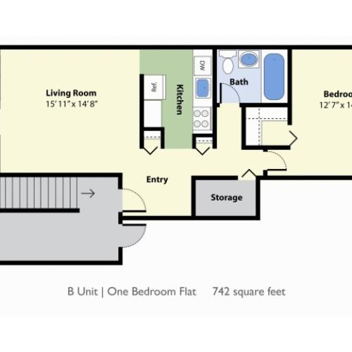 1 Bdrm Floor Plan | Apartments In Falmouth Maine | Foreside Estates