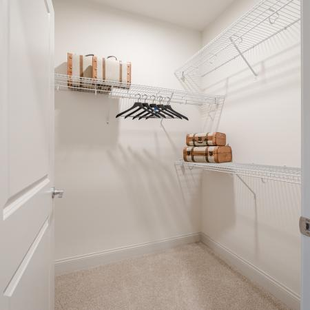 Ample closet space at apartments in North Andover.