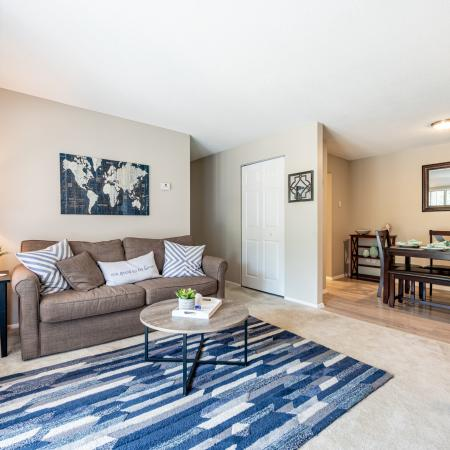 Elegant Living Room | 3 Bedroom Apartments Nashua Nh | Forest Ridge Apartments