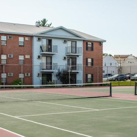 Tennis courts available at Princeton Place apartments for rent in Worcester Massachusetts