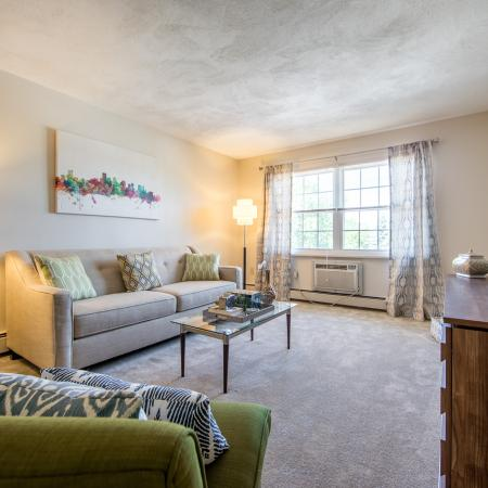 Gorgeous living room design at Princeton Crossing |  Apartment for Rent in Salem, MA