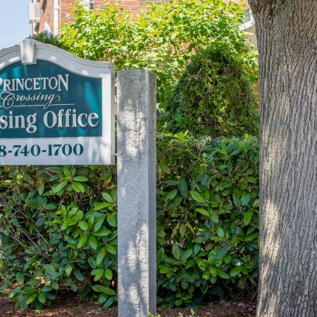 Front entrance sign to our apartment community - Princeton Crossing |  Apartments for Rent in Salem, MA