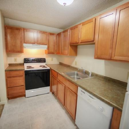 Efficient kitchens with sleek design | Princeton Place | Worcester Massachusetts Apartments For Rent