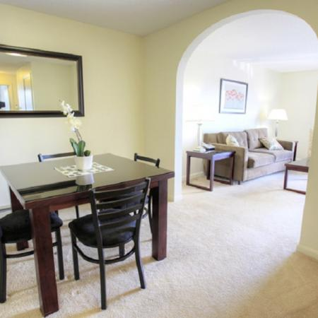 Open and functional kitchen and living area | Princeton Place | Worcester Massachusetts Apartments For Rent