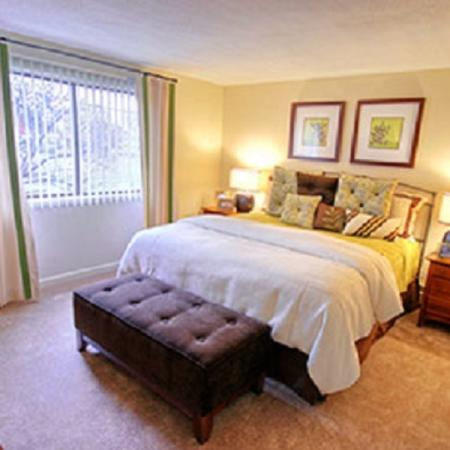 Master bedroom layout available at our Lowell MA apartment rentals