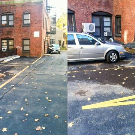 Parking area Apartments In Brookline MA   Princeton on Beacon Street