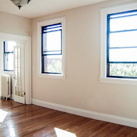 Airy living area with multiple windows   One Bedroom Apartments In Brookline MA   Princeton on Beacon Street