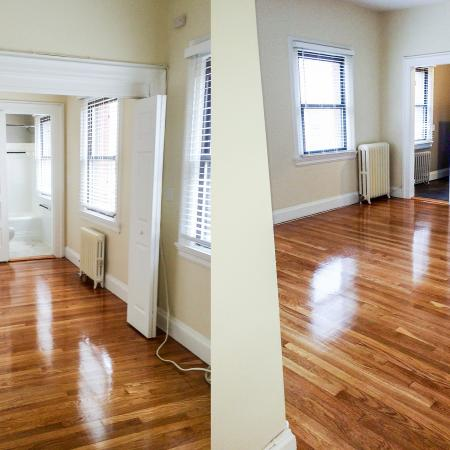 Spacious Living Area   Apartments For Rent In Brookline MA   Princeton on Beacon Street
