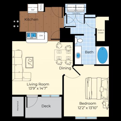Floor Plan 1   Luxury Apartments In Westford MA   Princeton Westford
