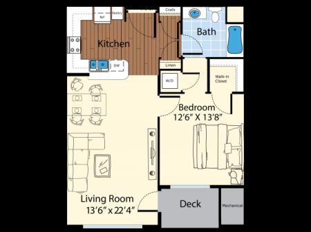 Floor Plan 2 | Apartments In Westford MA | Princeton Westford