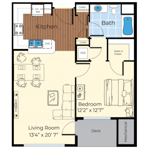 Floor Plan 3 | Westford MA Apartments For Rent | Princeton Westford