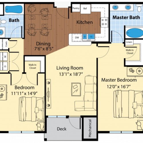 Floor Plan 7 | Apartments In Westford MA | Princeton Westford
