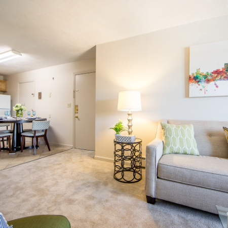 Open concept living area at Princeton Crossing | Apartment for Rent in Salem, MA