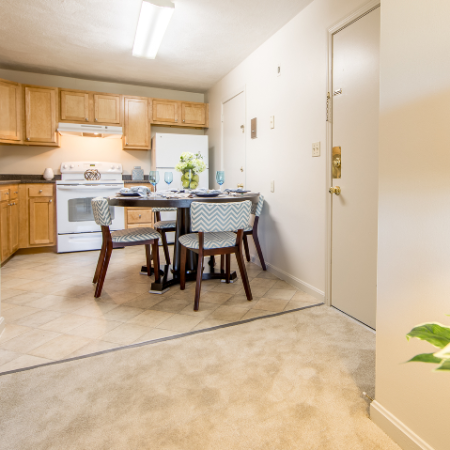 Living/dining/kitchen area at Princeton Crossing | Apartment for Rent in Salem, MA