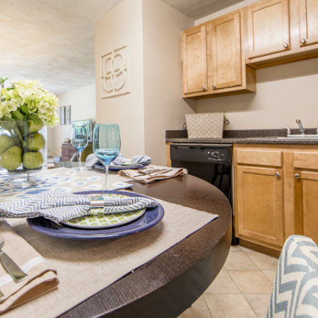 Close-up of dining area at Princeton Crossing | Apartment for Rent in Salem, MA