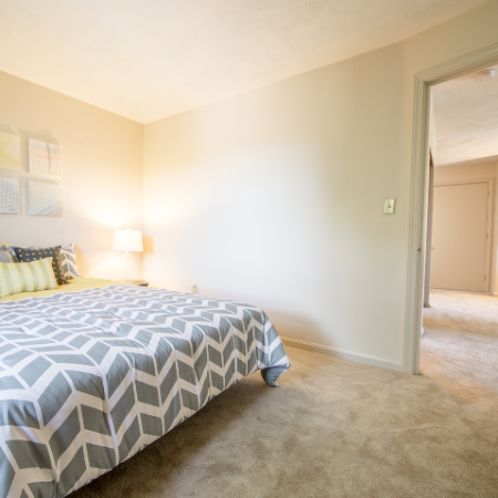 Carpeted bedroom at Princeton Crossing | Apartment for Rent in Salem, MA
