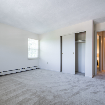 Closets in spacious living area at Princeton Crossing | Apartment for Rent in Salem, MA