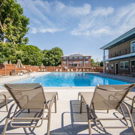 Sun deck and pool at at Princeton Crossing | Apartments for Rent in Salem, MA