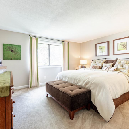 Bedroom with large window | Princeton Park | Lowell Massachusetts Apartments