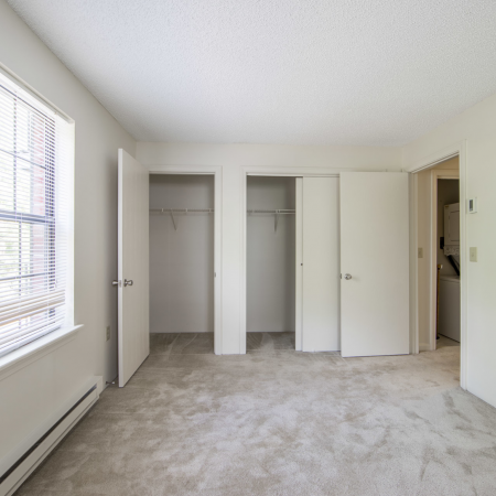 Carpeted bedroom with closets | Princeton Place | Apartment For Rent Worcester MA