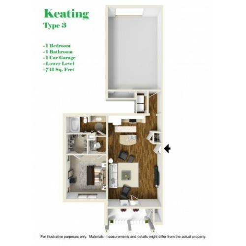 Kelly Reserve Apartments Overland Park Kansas Keating 3 Floor Plan