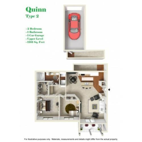 Kelly Reserve Apartments Overland Park Kansas Quinn2 Floor Plan
