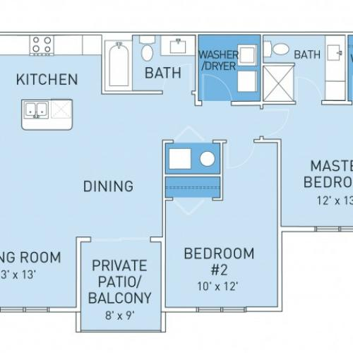 Floor Plan | Ridge45 Apartments