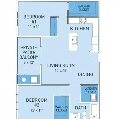 Floor Plan 3 | Ridge45 Apartments