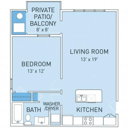 Floor Plan 4 | Ridge45 Apartments