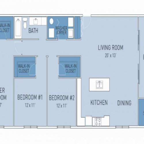 Floor Plan 6 | Ridge45 Apartments